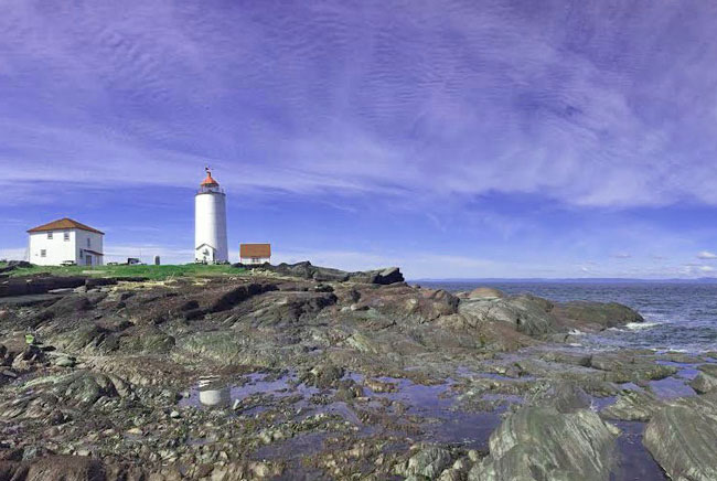 Lighthouse B&B in Maritime Quebec. Photo by Janna Graber