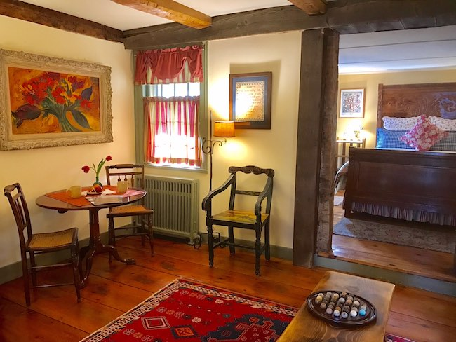 Sitting room of Deer Hill Suite. Photo courtesy of Olde Rhinebeck Inn