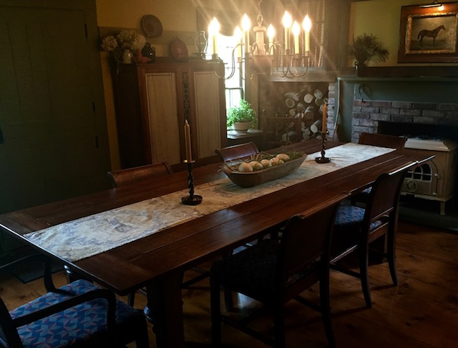 Dining Room at Olde Rhinebeck Inn. Photo by Claudia Carbone