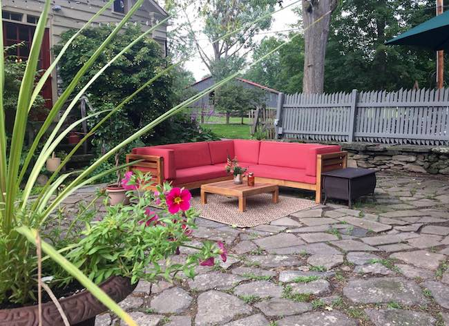 Patio of Olde Rhinebeck Inn. Photo by Claudia Carbone