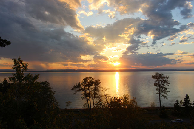 There's a reason the Auberge de la Pointe, our first stop, is known for their beautiful sunsets. Photo by Janna Graber