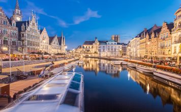 Three exposures of Ghent. Photo by Flickr/Tom Roeleveld