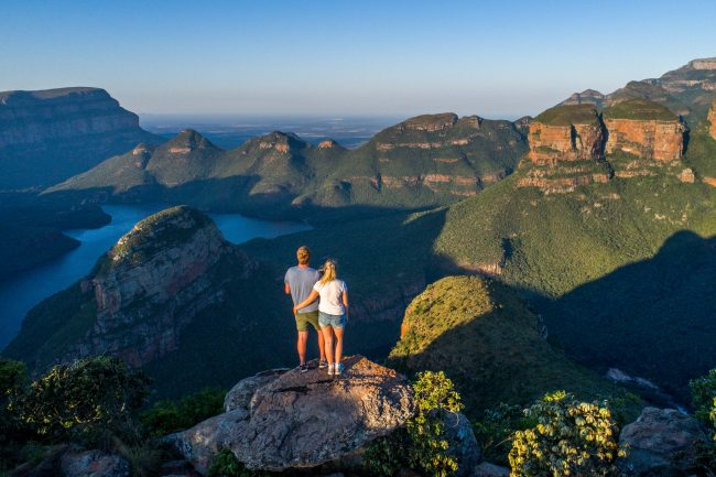 Mpumalanga Panorama Route in South Africa The magnificent Three Rondavels lookout point at the Blyde River Canyon, arguably the Panorama Route's most famous and most beautiful view point. (Photo by Luke Maximo Bell)