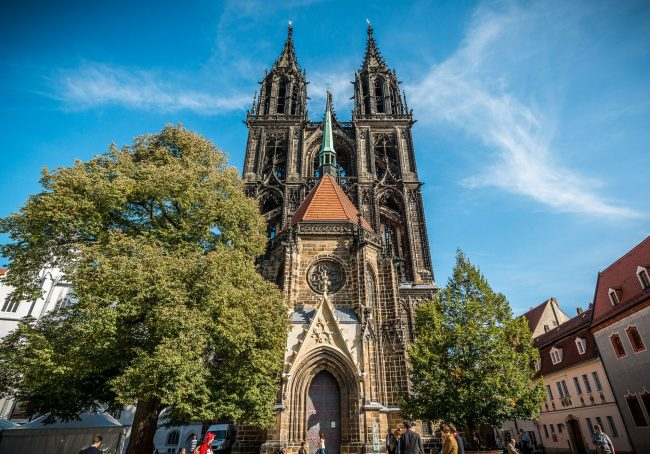 Martin Luther in Germany: The magnificent Meissen Cathedral atop a hill overlooking the city is one of the places of pilgrimage this year for travelers to Germany observing the 500th anniversary of the start of the Reformation. (Photo credit: TMGS/Achim Meurer)