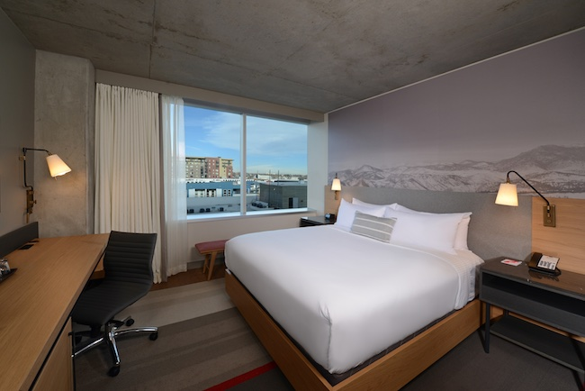 King room with city view. Photo courtesy of Hotel Indigo