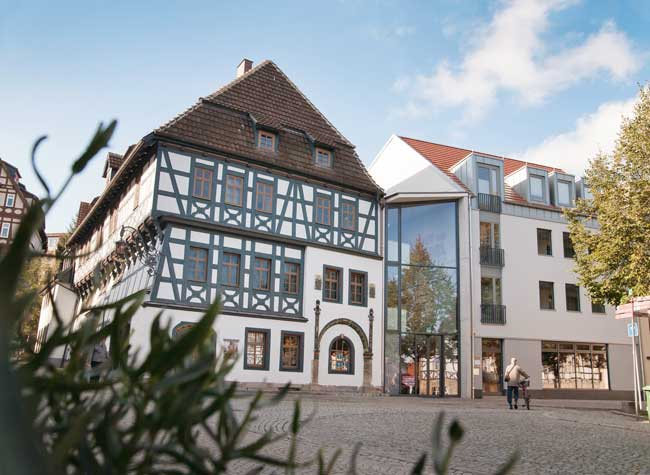 The Luther House in Eisenach is where Luther boarded with a local family during the years he attended primary school as a boy. It's now a museum with a special focus on Luther's translation of the Bible into German. (Photo credit: Anna-Lena Thamm — Stiftung Lutherhaus Eisenach)