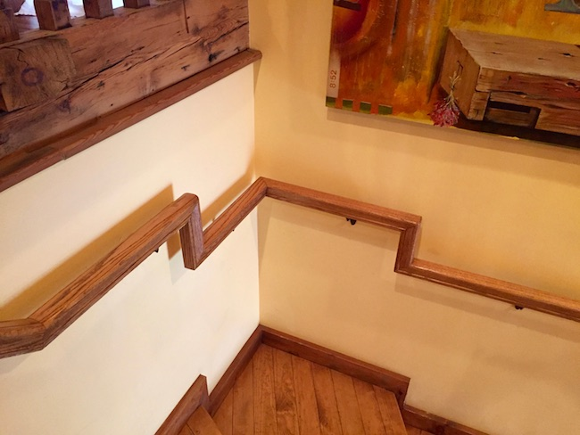 Restored stairway and railing. Photo by Claudia Carbone
