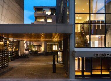 Entrance to Kimpton Hotel Born with porte cochere. Photo courtesy of Kimpton Hotel Born