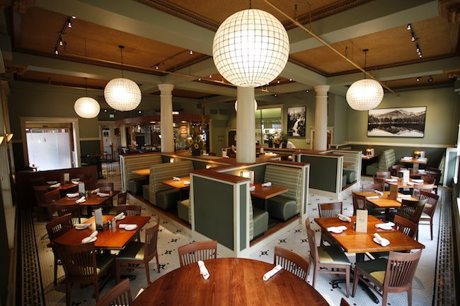 Spruce Farm & Fish Restaurant in original dining room. Photo courtesy of Hotel Boulderado