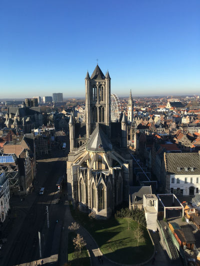 Ghent View of Saint Niklaas Cathedral from the Belfry. Photo by Nicole Horowitz