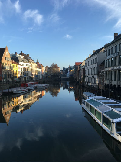 Beautiful Ghent Canals. Photo by Nicole Horowitz