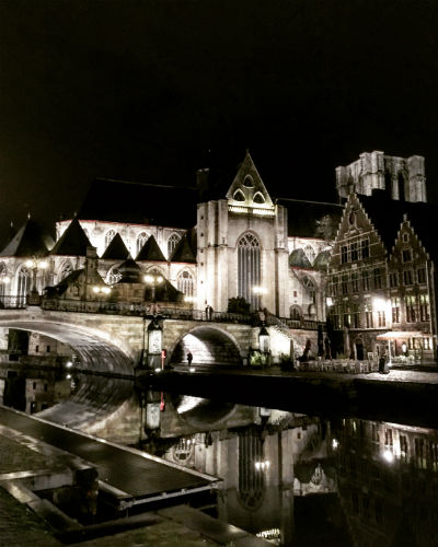 Ghent at night. Photo by Nicole Horowitz