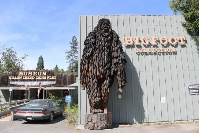 Mythical Creatures Bigfoot Museum in Willow Creek, Humboldt California.