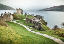 Mythical Creatures Urquhart Castle close to where the cryptid is said to appear in Scotland.