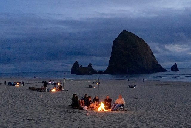 Campfires on Cannon Beach ©Laurel Kallenbach