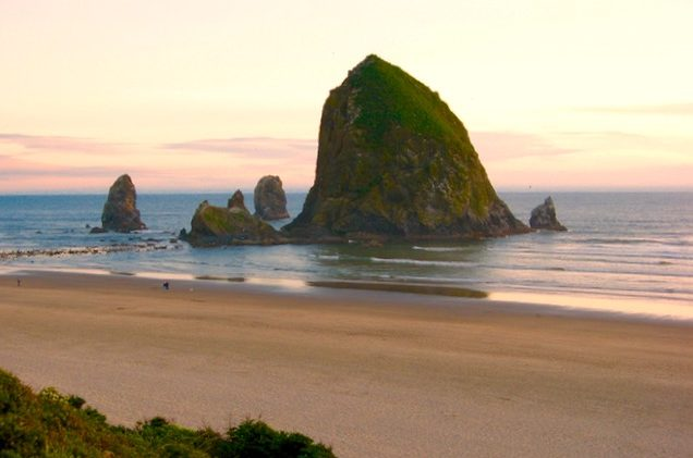 Canon Haystack Rock at sunset ©Laurel Kallenbach.JPG