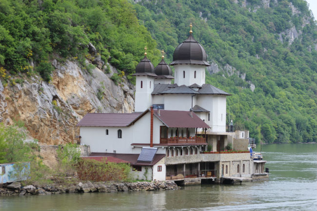 Danube The Iron Gates Convent. Photo by Gilly Pickup