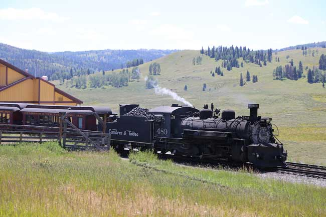 The Cumbres & Toltec stops in Osier, Colorado, where passengers are served a buffet lunch. Photo by Benjamin Rader