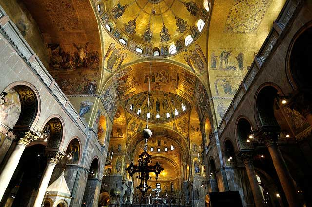 Interior of St. Marks Basilica in Venice. Flickr/Reji
