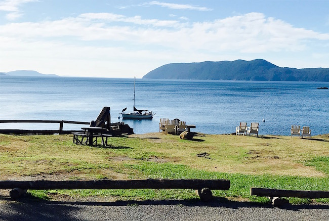 Waters of Rosario Strait seen from Doe Bay Resort. Photo by Claudia Carbone