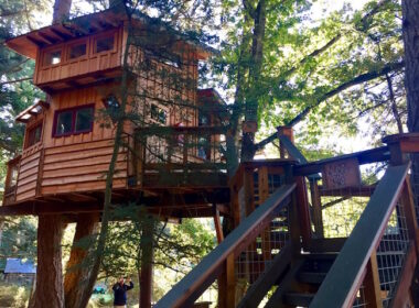 The Treehouse at Doe Bay Resort. Photo by Claudia Carbone