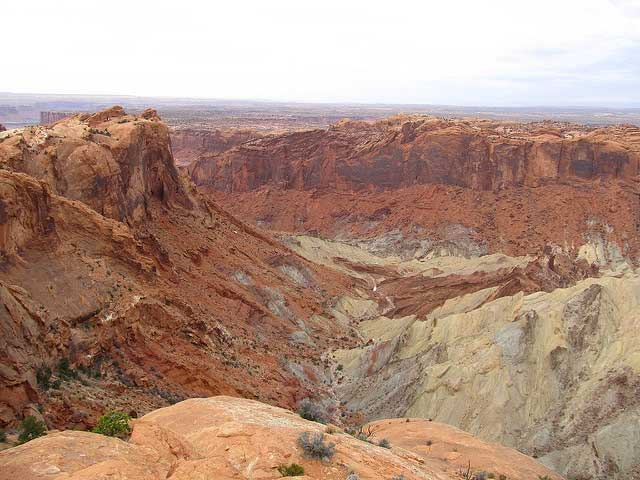 One top site in Canyonlands is Upheaval Dome, a an impact structure, the deeply eroded remnants of an impact crater, in Canyonlands National Park southwest of the city of Moab, Utah.