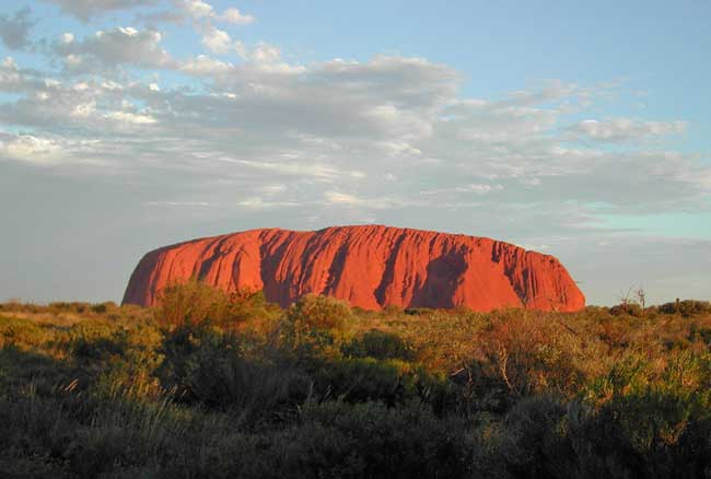 Uluru, also known as Ayers Rock, is a top attraction in Australia.