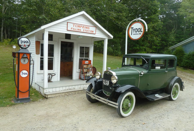 What to see and do in Boothbay Harbor, Maine -- Boothbay Railway Village. Classic cars are part of the incredible collection of Americana at Boothbay Railway Village in Maine. Photo by Michael Schuman