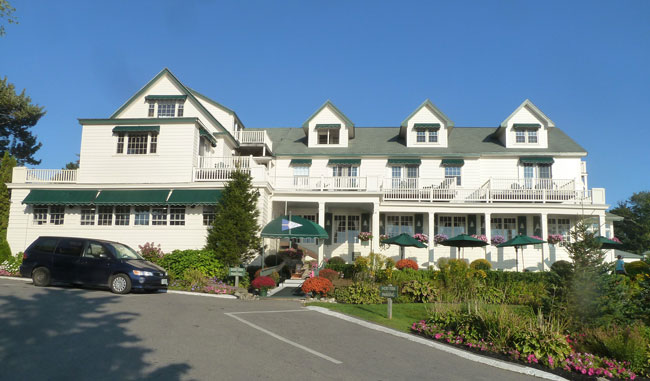 Spruce Point Inn in Boothbay Harbor, Maine. Photo by Michael Schuman