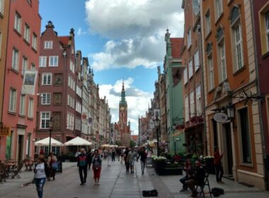 The streets of Gdansk. Photo by Eric D. Goodman