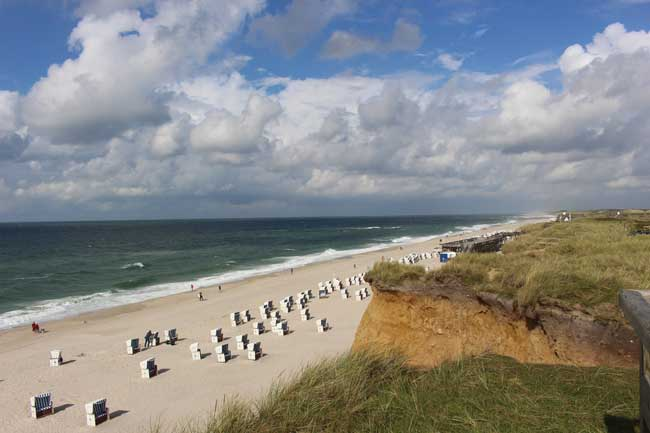 Walking the beach in Kampen on the German island of Sylt. Photo by Janna Graber