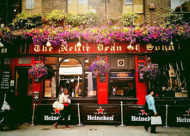 The pub is an important part of life in London. Nellie Dean of Soho is a classic London pub. Flickr/Garry Knight