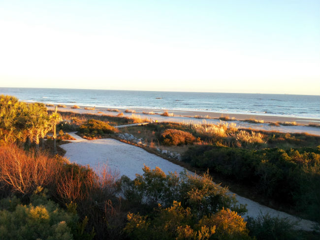 Seaside Point near the Wild Dunes Resort. Photo by