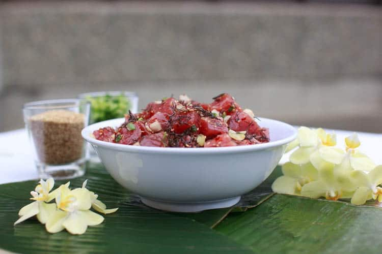 Poke is a popular dish found everywhere when you travel in Kauai