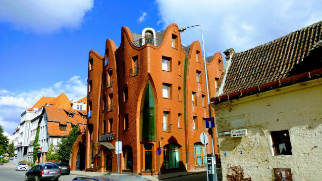 One of the marvelous examples of architecture in Gdansk. Photo by Eric D. Goodman
