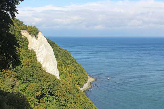 The famous chalk cliffs at Jasmund National Park on the island of Rügen. Photo by Janna Graber