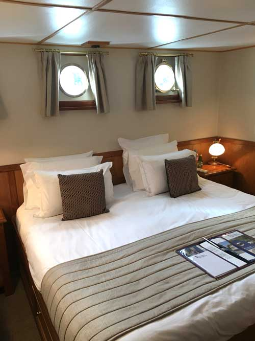 Comfortable staterooms aboard the L'Impressionniste. Photo by David Powell