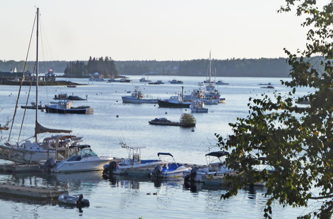 Travel in Boothbay Harbor, Maine. Harbor scene in Boothbay Harbor, Maine. Photo by Michael Schuman