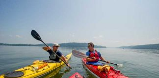 Kayaking with Shank's Mare on the Susquehanna River in York County, PA. Photo by Carri Wilbanks