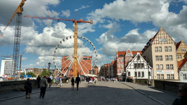 A ferris wheel in Gdansk. Photo by Eric D. Goodman