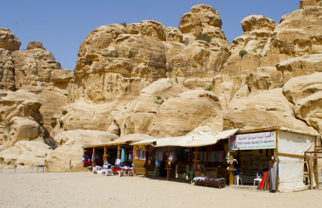 Vendors near Little Petra. Photo by Christine Loomis