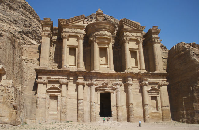 Petra The monastery up close. Photo by Christine Loomis