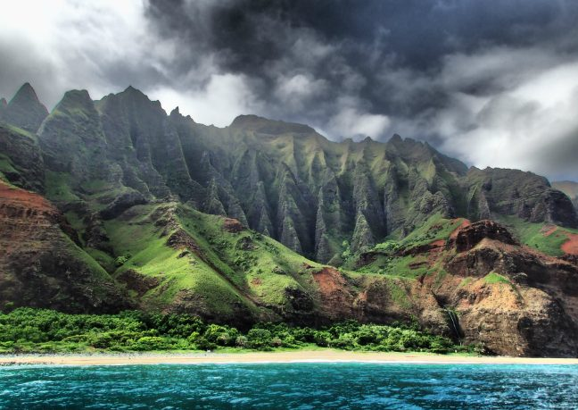 The Na Pali Coast. Photo by Andre Raine Swimming the Kalalau Trail in Kauai