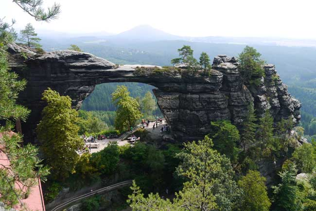 Pravčická-Gate is often considered the most beautiful natural formation in the Czech-Saxon Switzerland region. Photo by Czech Experience