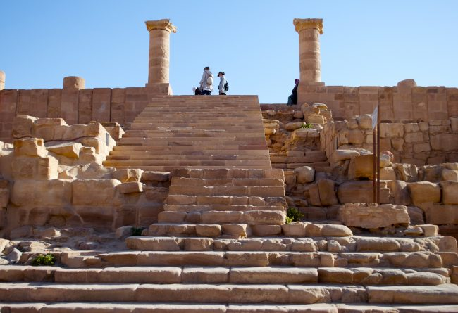 Petra Steps up from Cardo Maximus. Photo by Christine Loomis
