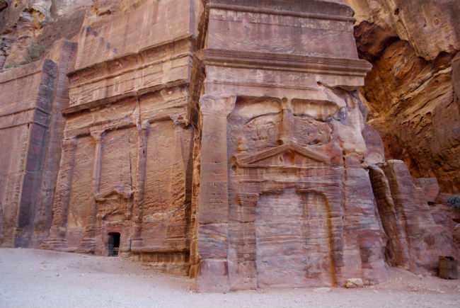 Petra A close up of a carving. Photo by Christine Loomis