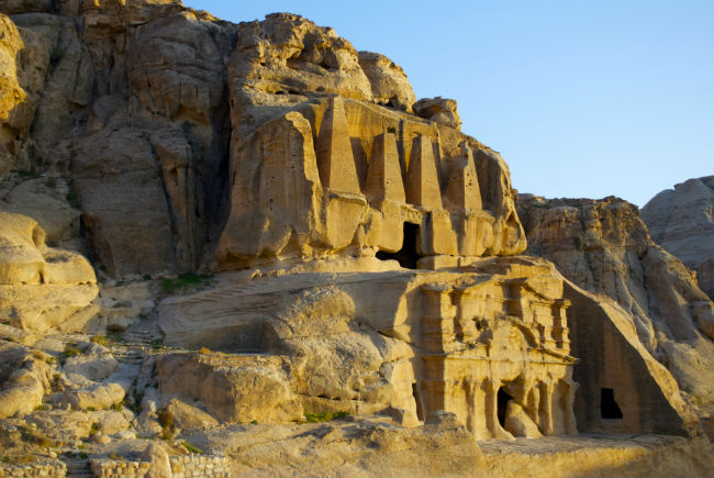 Tombs near a gate at Petra. Photo by Christine Loomis