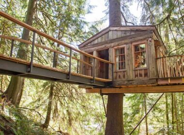Treehouse Point near Seattle, WA. Photo by Treehouse Point