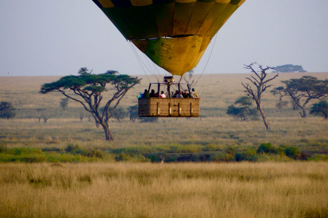 A hot air balloon ride is another way to see the Serengeti. Photo by Christine Loomis