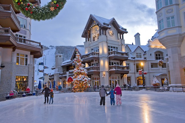 Ice rink at Lionshead Square at Vail. Photo by Jack Affleck, courtesy of Vail Resorts.